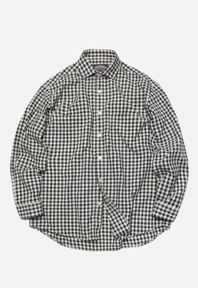 FRIZMWORKS프리즘웍스 Comfy gingham check shirt _ black