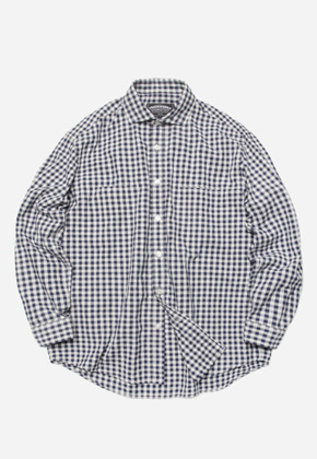 FRIZMWORKS프리즘웍스 Comfy gingham check shirt _ blue