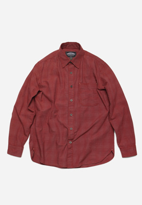 FRIZMWORKS프리즘웍스 Narrow check shirt _ burgundy