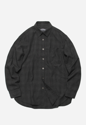 FRIZMWORKS프리즘웍스 Narrow check shirt _ black