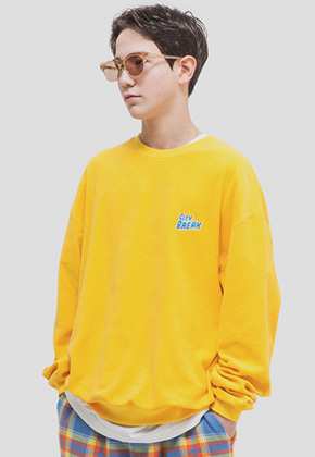 WKNDRS위캔더스 CITY BREAK CREWNECK (YELLOW)