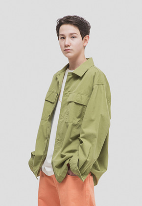 WKNDRS위캔더스 NANCY SHIRT JACKET (KHAKI)