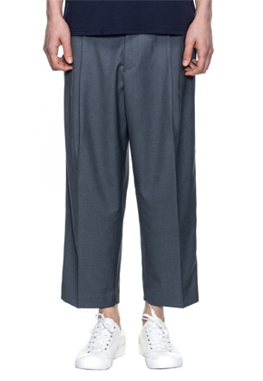 Reve De Agneau레브드앙뉴 CROP WIDE PANTS(CHARCOAL)