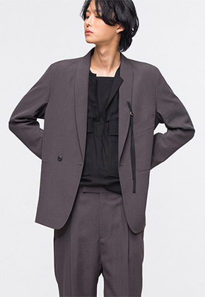 Noirer노이어 Linen-Shawl-Collar-Shadaw-Suit 린넨 숄 카라 쉐도우 수트