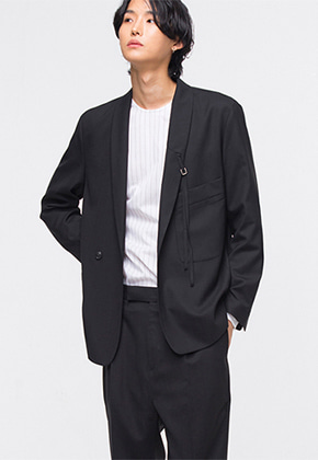 Noirer노이어 Shawl-Collar-Shadaw-Suit 숄 카라 셰도우 수트