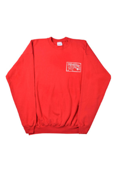 FEVER피버 FLAMEHAND FEVERS SWEATSHIRTS_RED