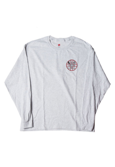 FEVER피버 FEVER CROSS LOGO TEE_GREY
