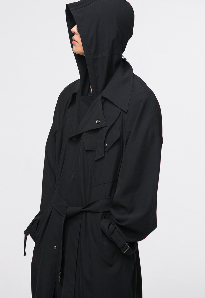 Noirer노이어 18 Hooded Trench Coat 18 후디드 트렌치 코트