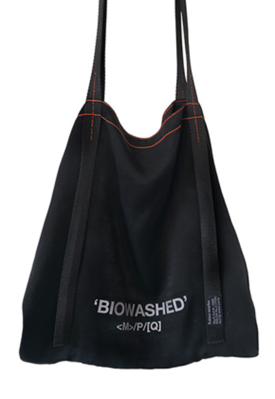MPQ엠피큐 'BIOWASHED' SIGNATURE SATIN BAG (BLACK)