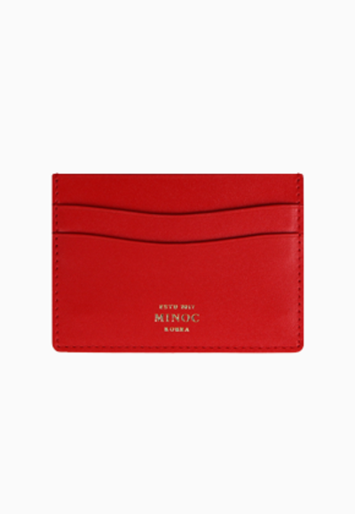 Minoc미녹 Small Card Wallet (레드)