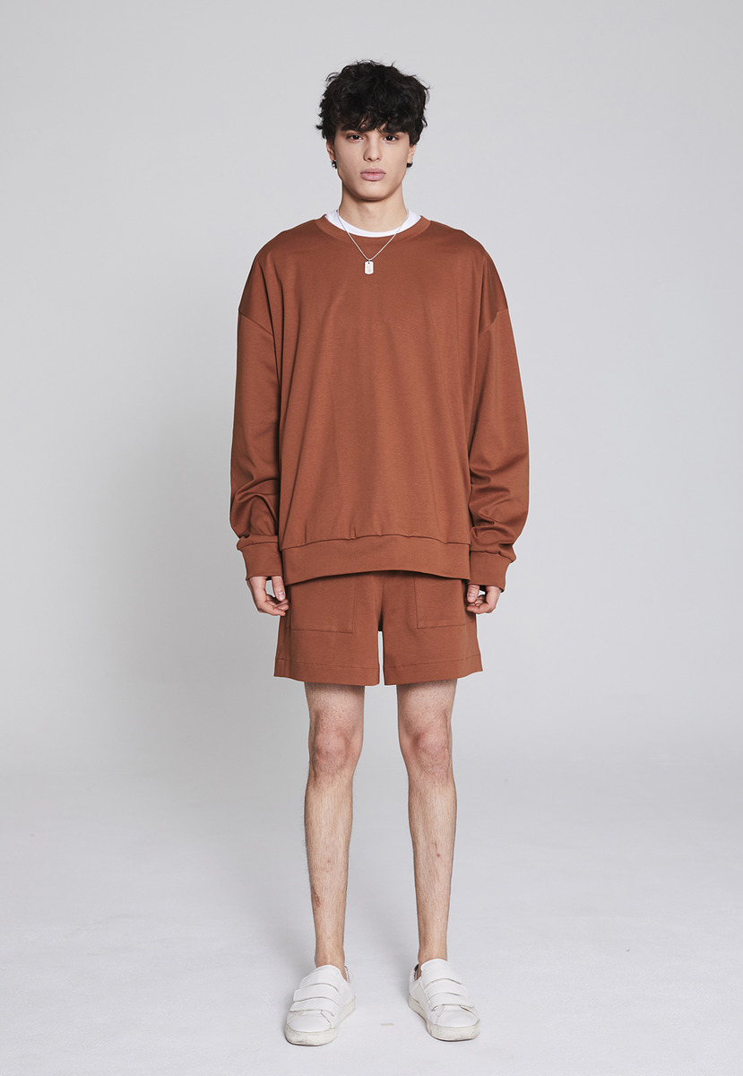 Millin밀린 Basic sweatshirt(brown)