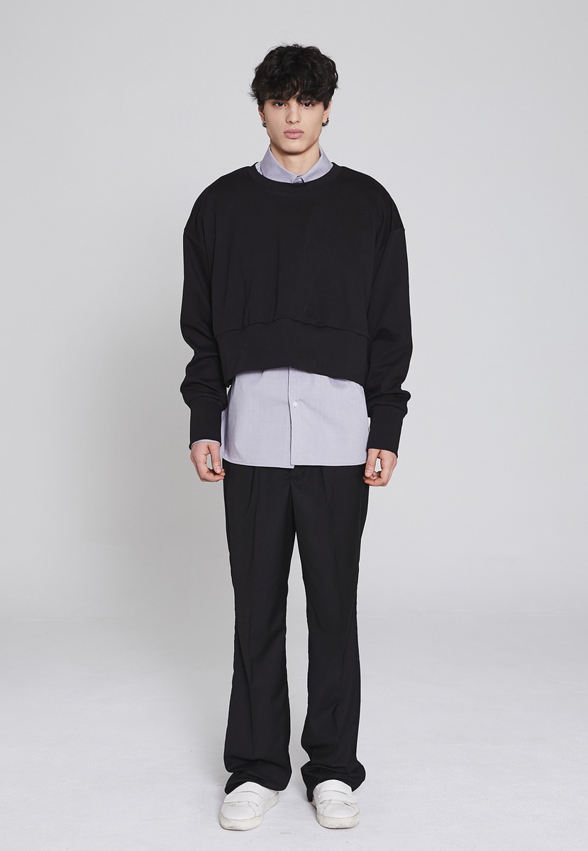 Millin밀린 Longwide trousers(black)