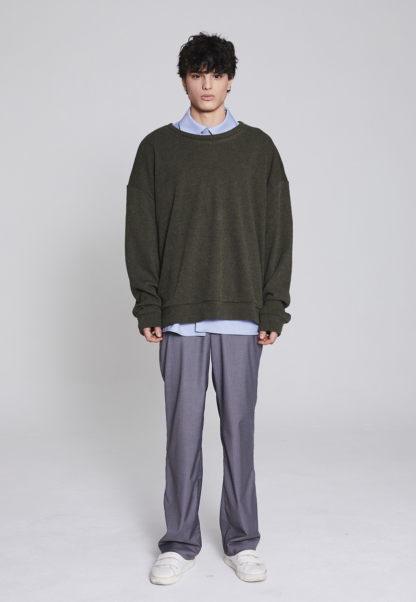Millin밀린 Longwide trousers(gray)