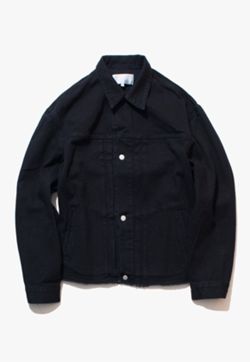Gakuro가쿠로 DENIM JACKET (WASHED BLACK)