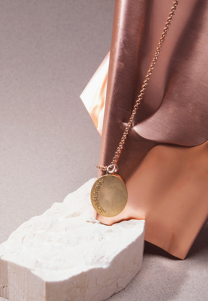 Anderssonbell앤더슨벨 VINTAGE ROUND PENDANT LONG NECKLACE aaa069w GOLD