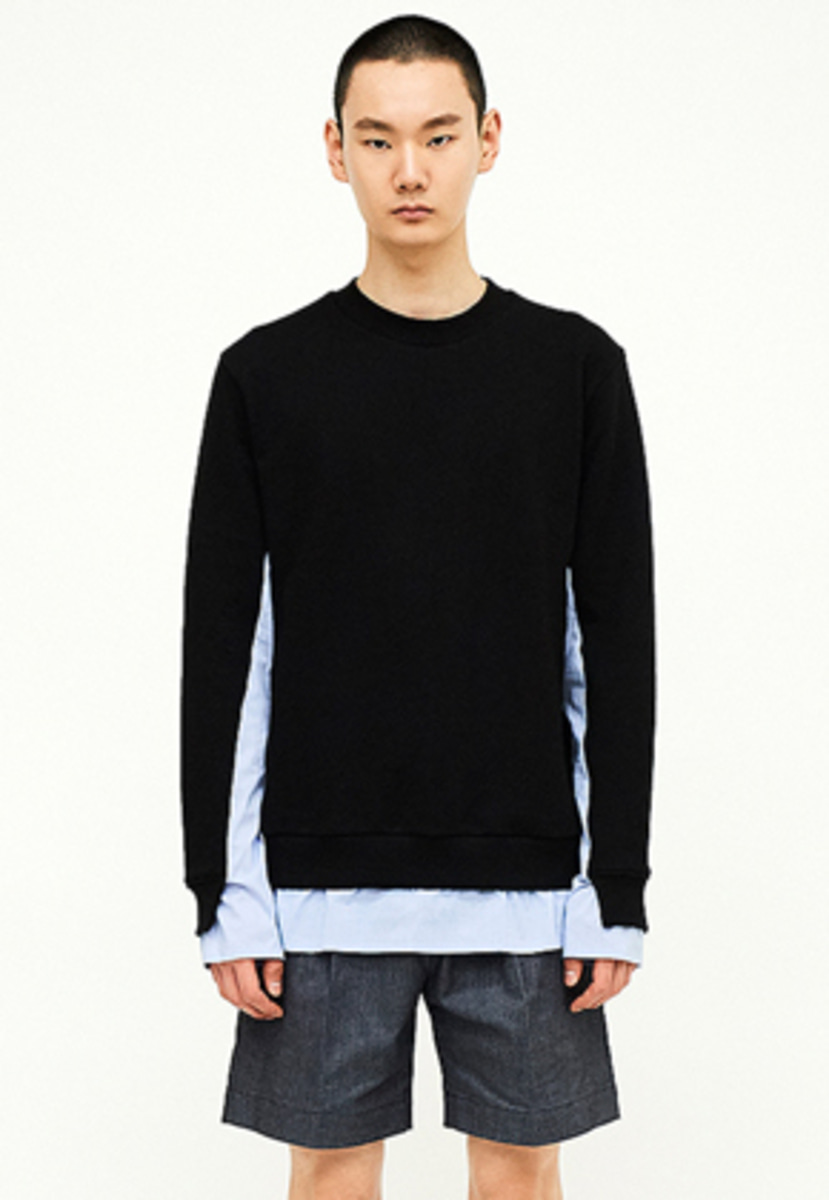 SEC세크 [Unisex] Shirting Sweatshirt_BLK