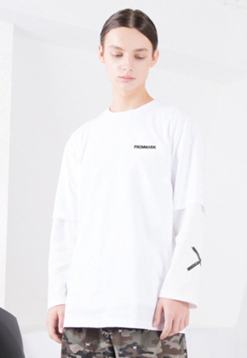 FROMMARK프롬마크 WAVE GRAPHIC T-SHIRTS WHITE