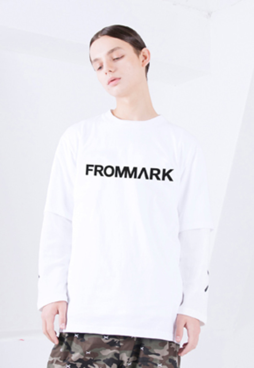 FROMMARK프롬마크 LOGO T-SHIRTS WHITE