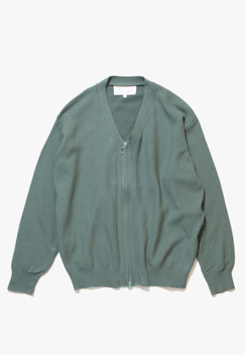 Gakuro가쿠로 Zippered Cardigan (Mint)