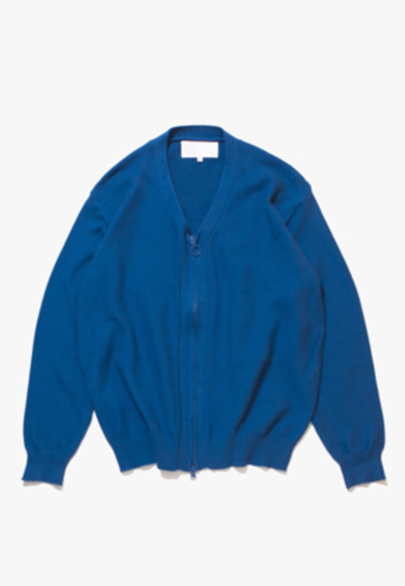 Gakuro가쿠로 Zippered Cardigan (Blue)