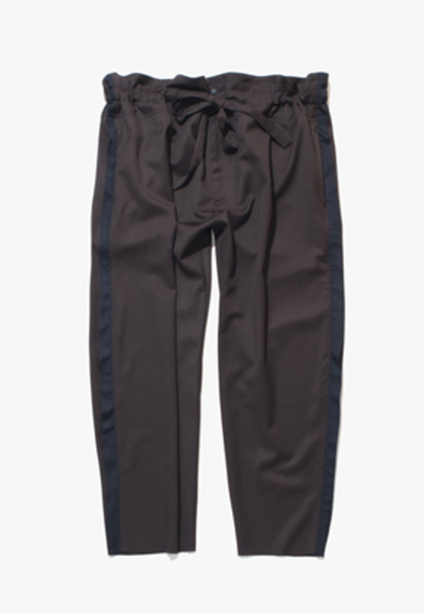Gakuro가쿠로 Tapered Wrap Pants (Brown)