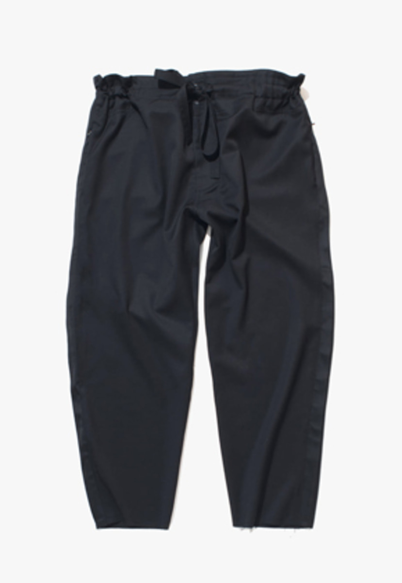 Gakuro가쿠로 Tapered Wrap Pants (Black)