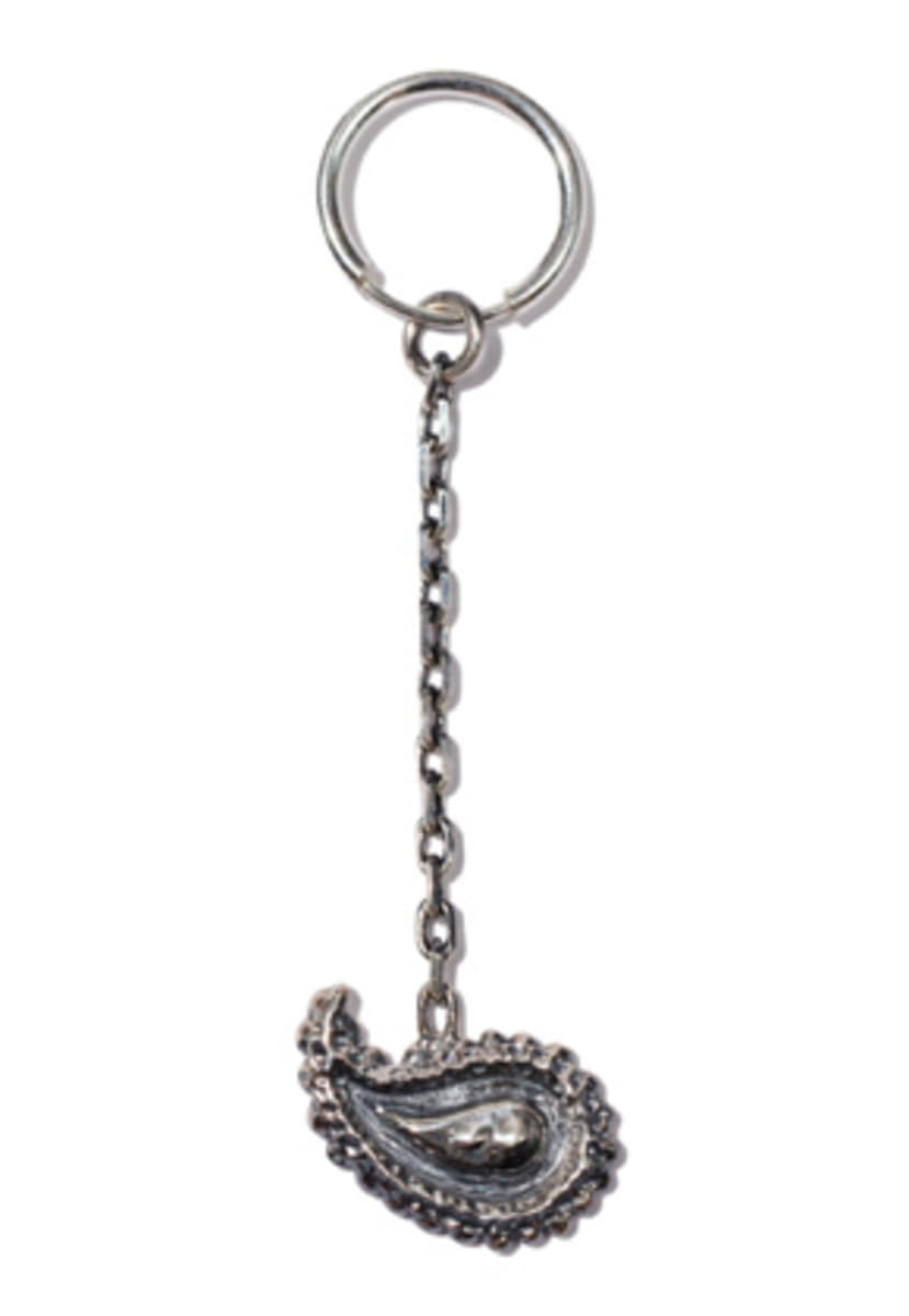 Kruchi크루치 Paisley chain single earring (Silver)