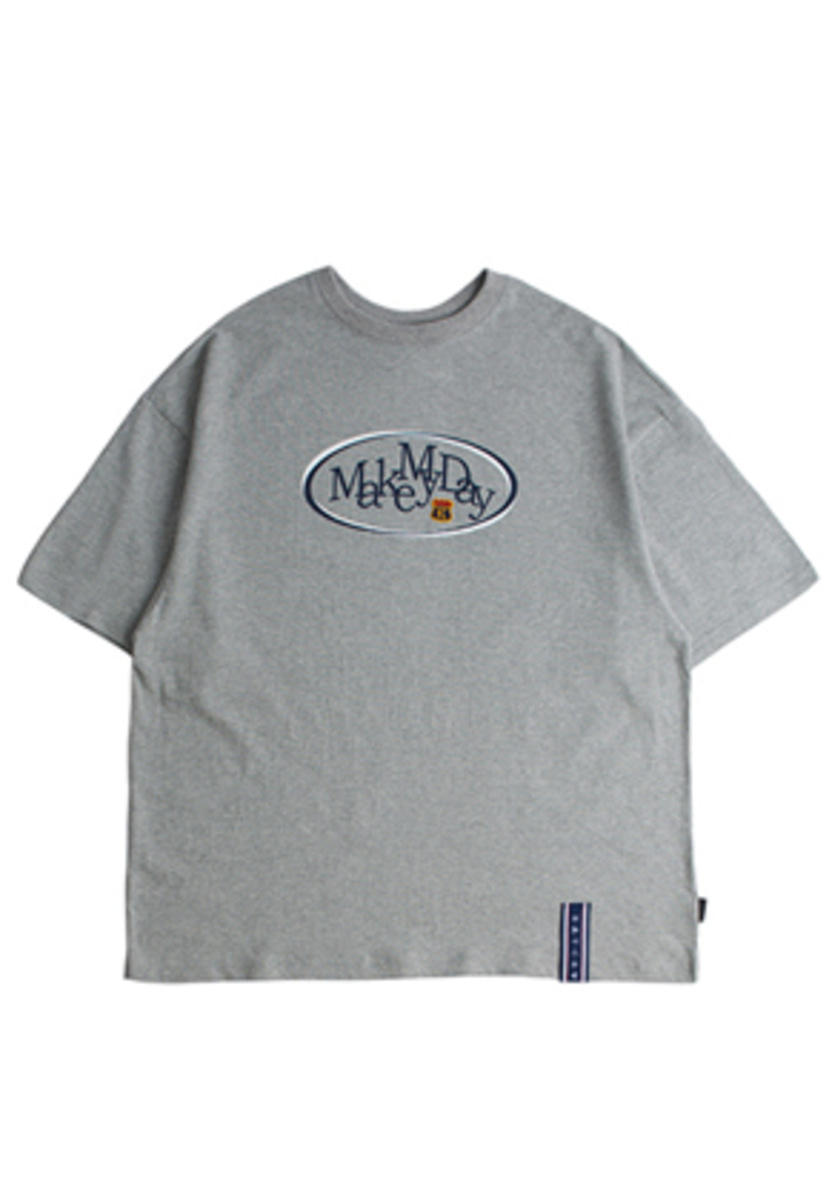 Romantic Crown로맨틱크라운 Circle Logo T Shirts_Grey