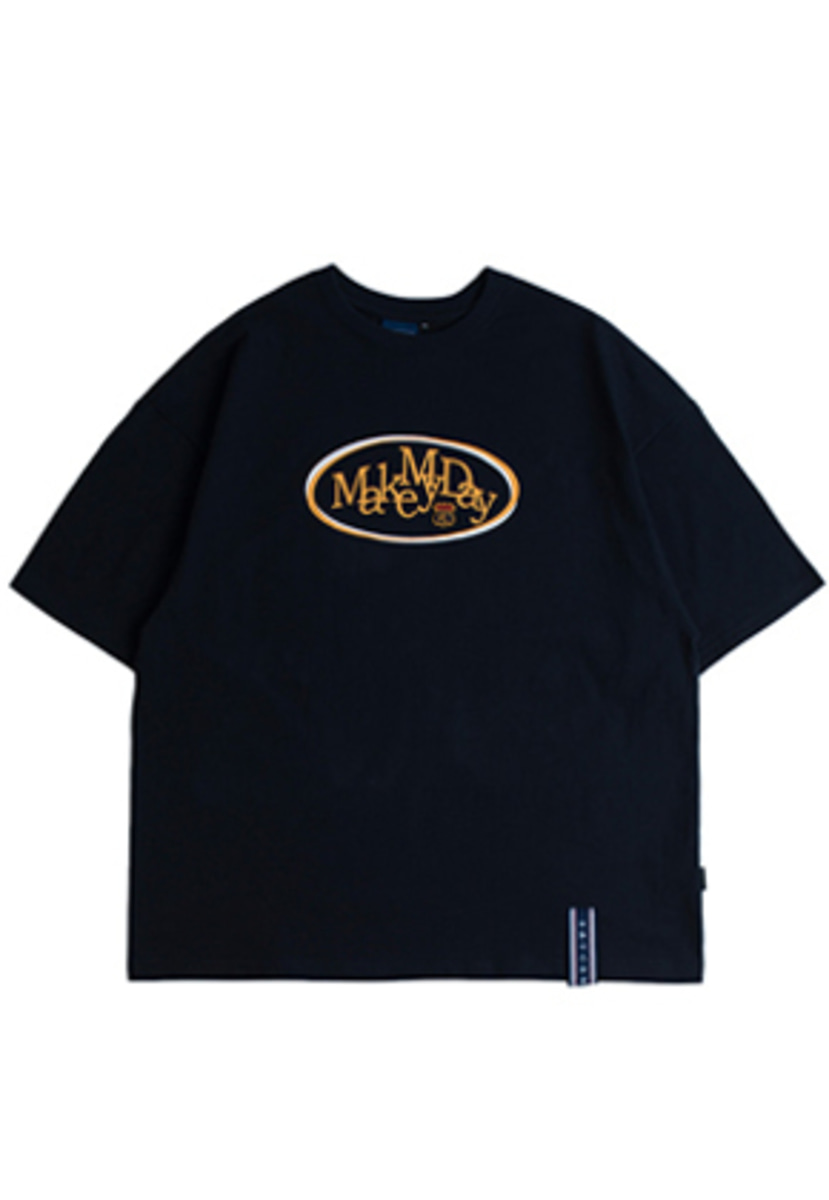Romantic Crown로맨틱크라운 Circle Logo T Shirts_Navy
