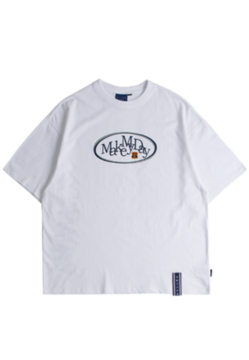Romantic Crown로맨틱크라운 Circle Logo T Shirts_White