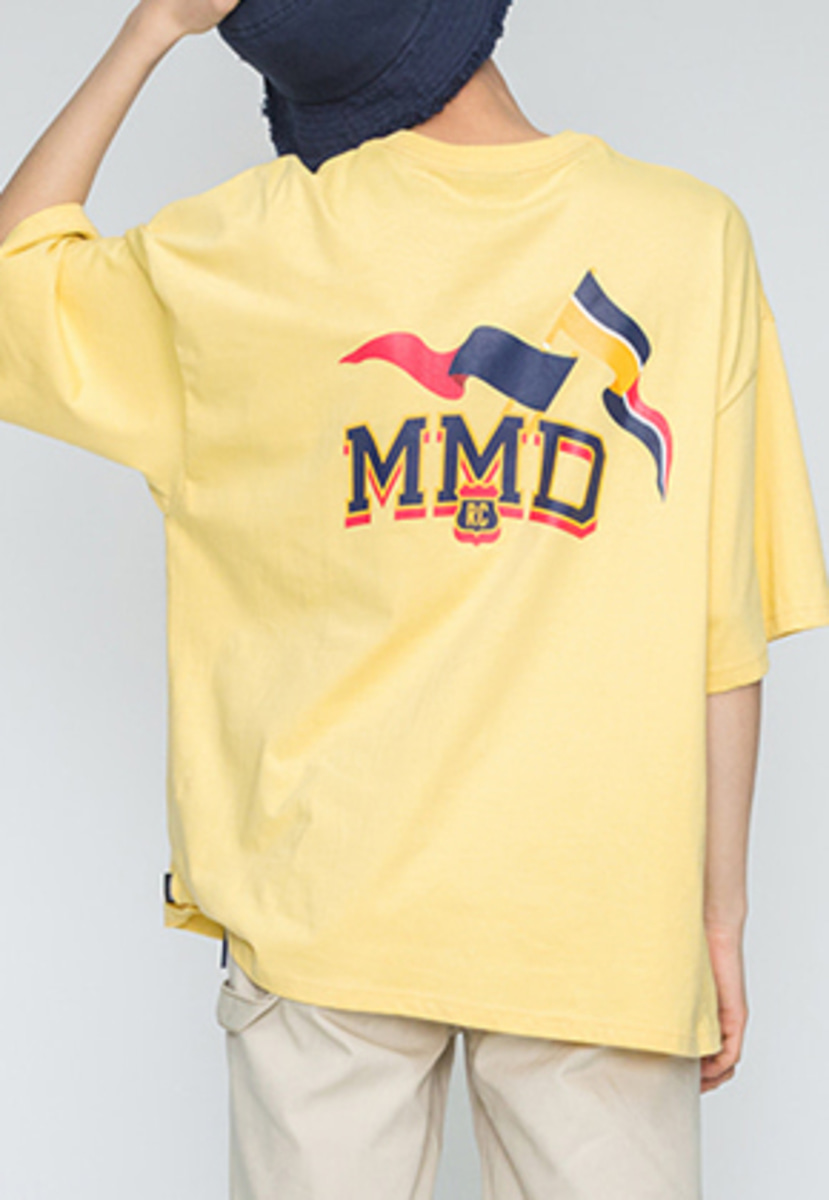 Romantic Crown로맨틱크라운 MMD Flag T Shirts_Butter