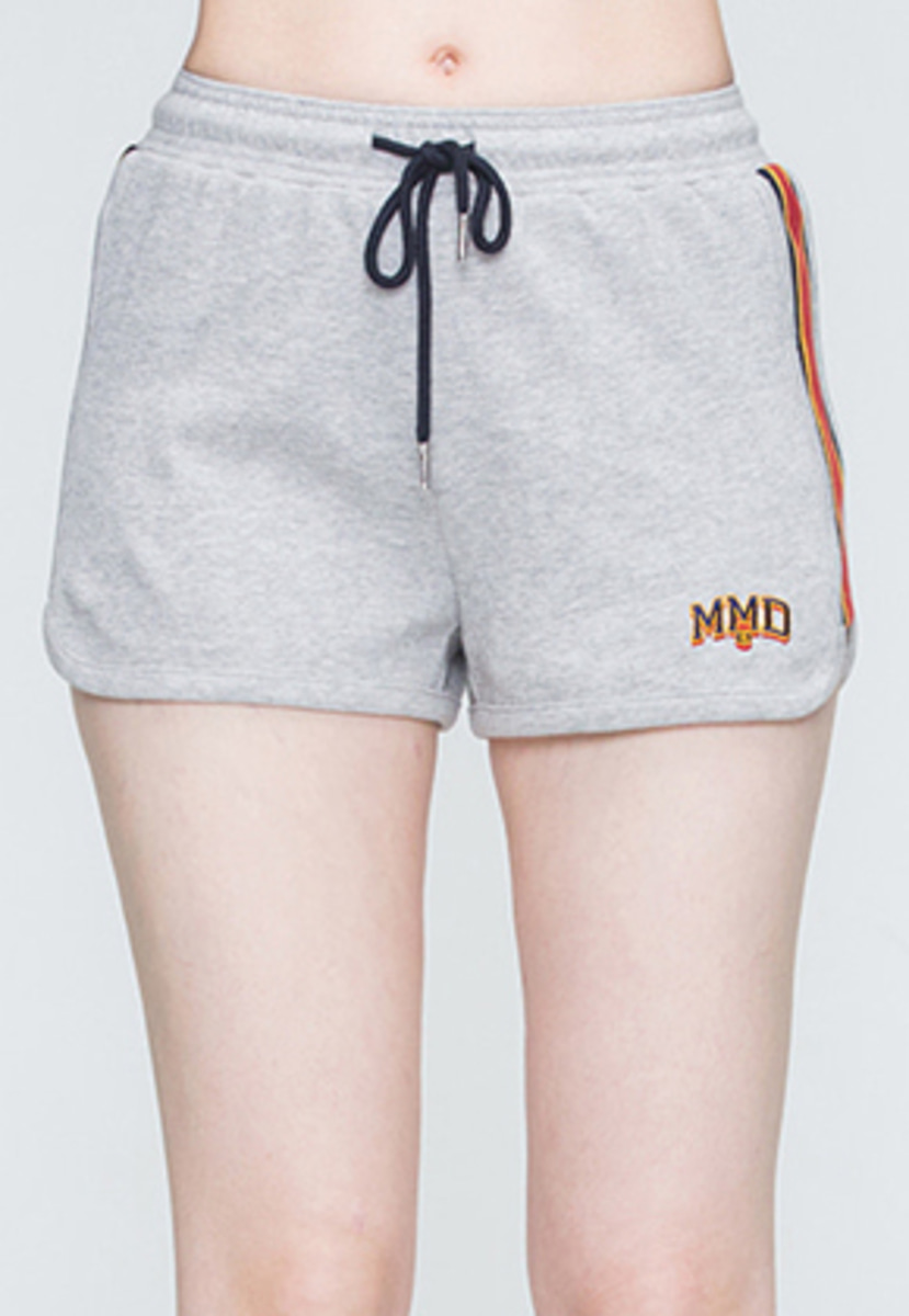Romantic Crown로맨틱크라운 Band Line Shorts_Grey