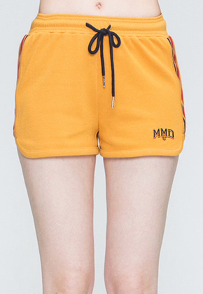 Romantic Crown로맨틱크라운 Band Line Shorts_Mustard