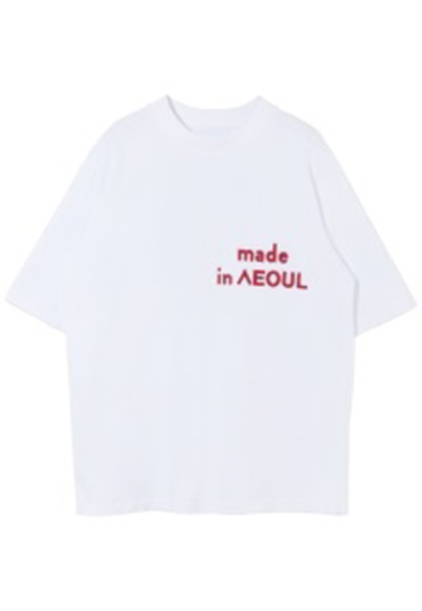 Nohant Newkidz노앙뉴키즈 MADE IN SEOUL T SHIRT WHITE