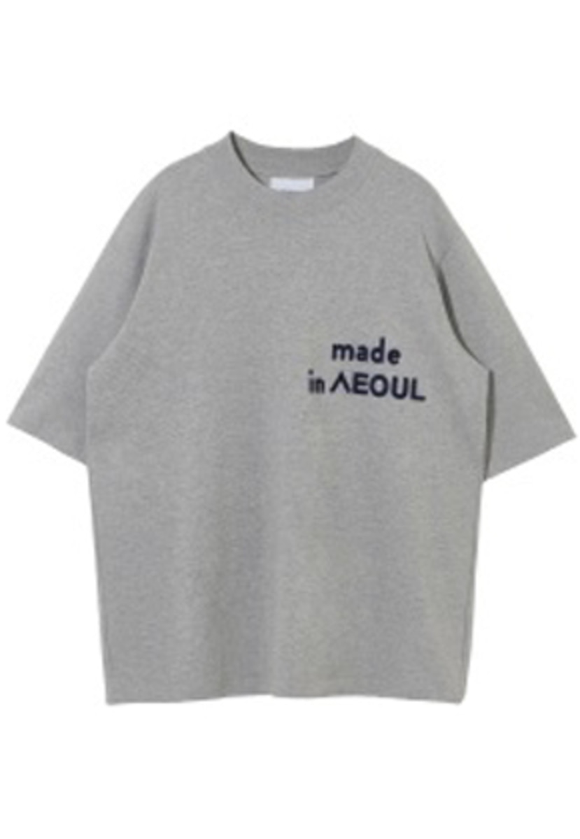 Nohant Newkidz노앙뉴키즈 MADE IN SEOUL T SHIRT GRAY