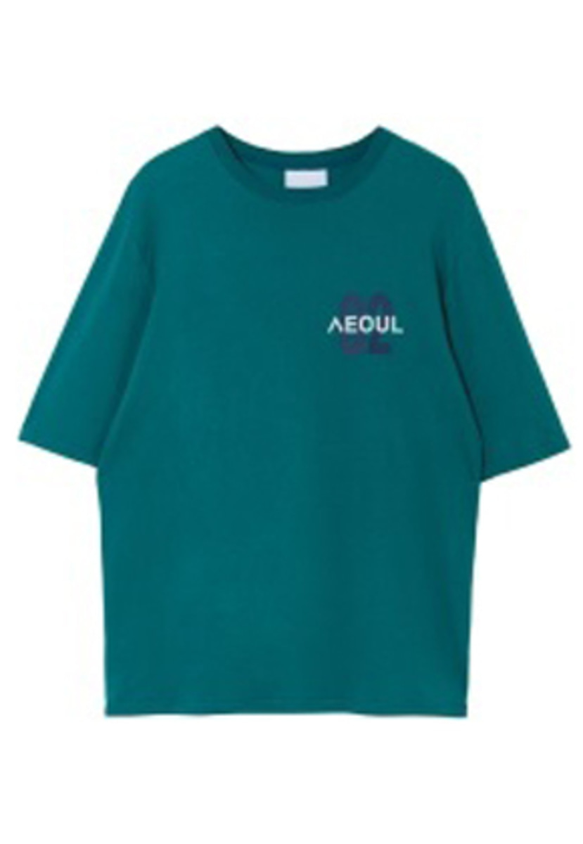 Nohant Newkidz노앙뉴키즈  02 SEOUL T SHIRT BLUEGREEN