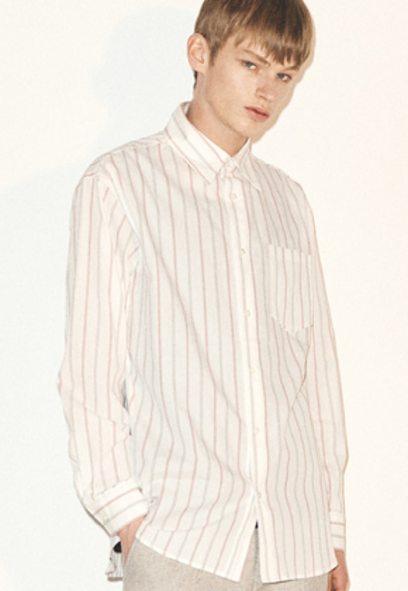 Haleine알렌느  RED point pin stripe shirts(FT015)