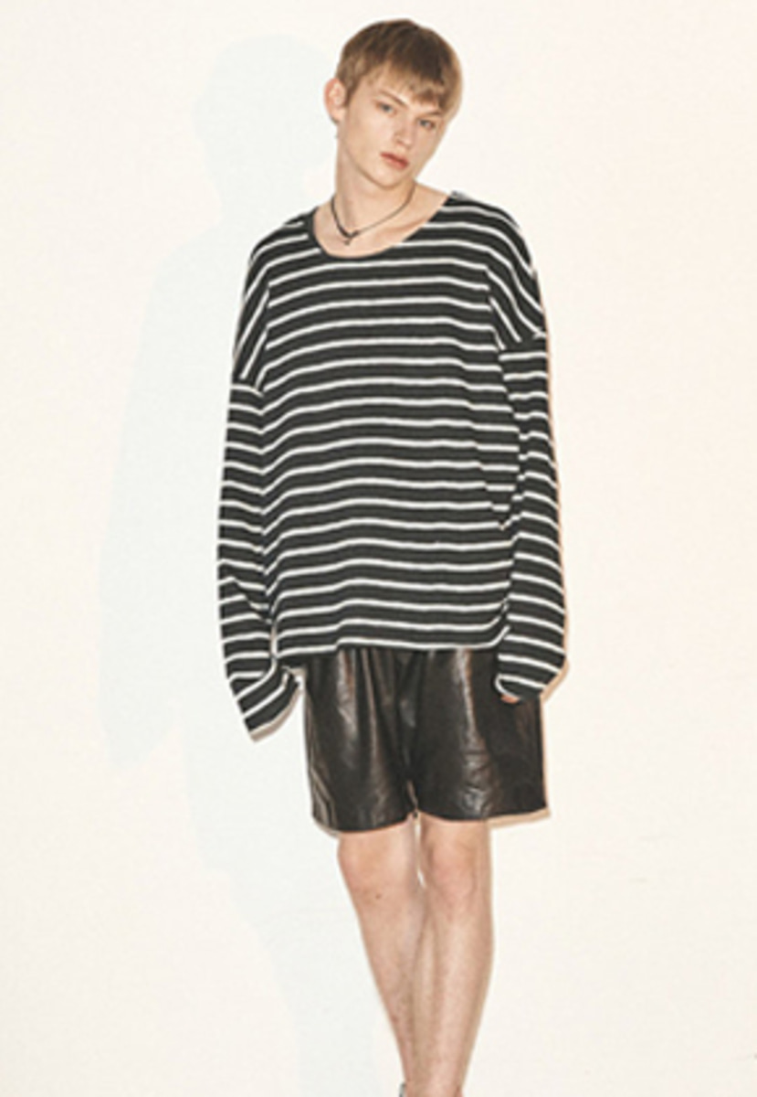 Haleine알렌느 BLACK reversible stripe longsleeve(FT010)