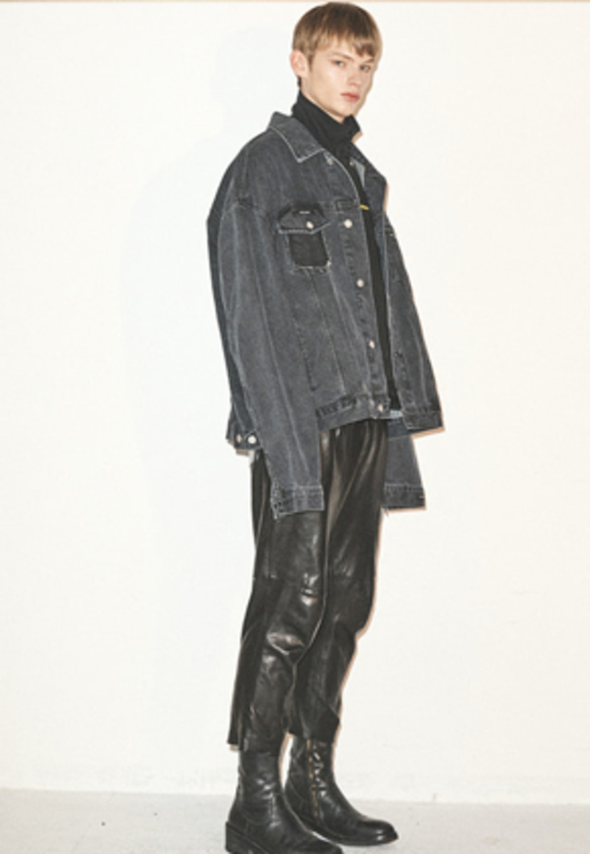 Haleine알렌느  BLACK oversized cutting detail denim jacket(FJ002)