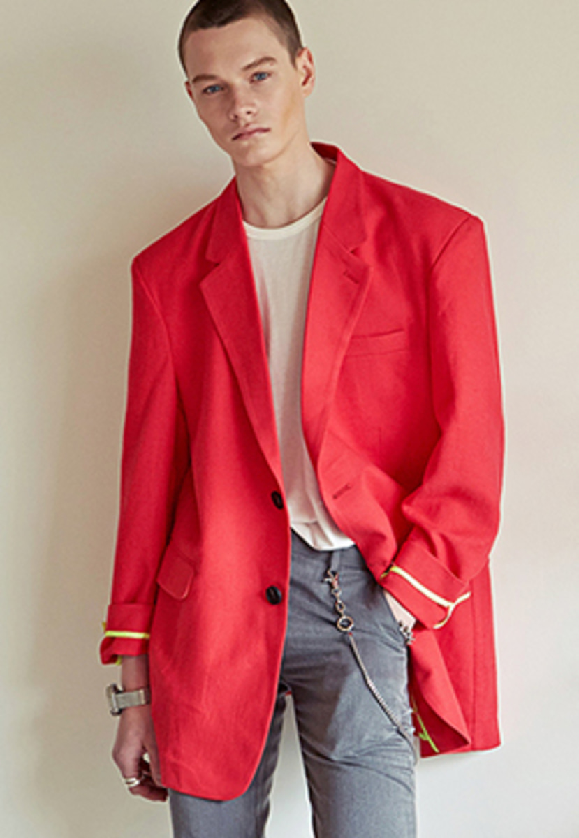 Yan13얀써틴 SUPER OVERFIT SS BLAZER_RED