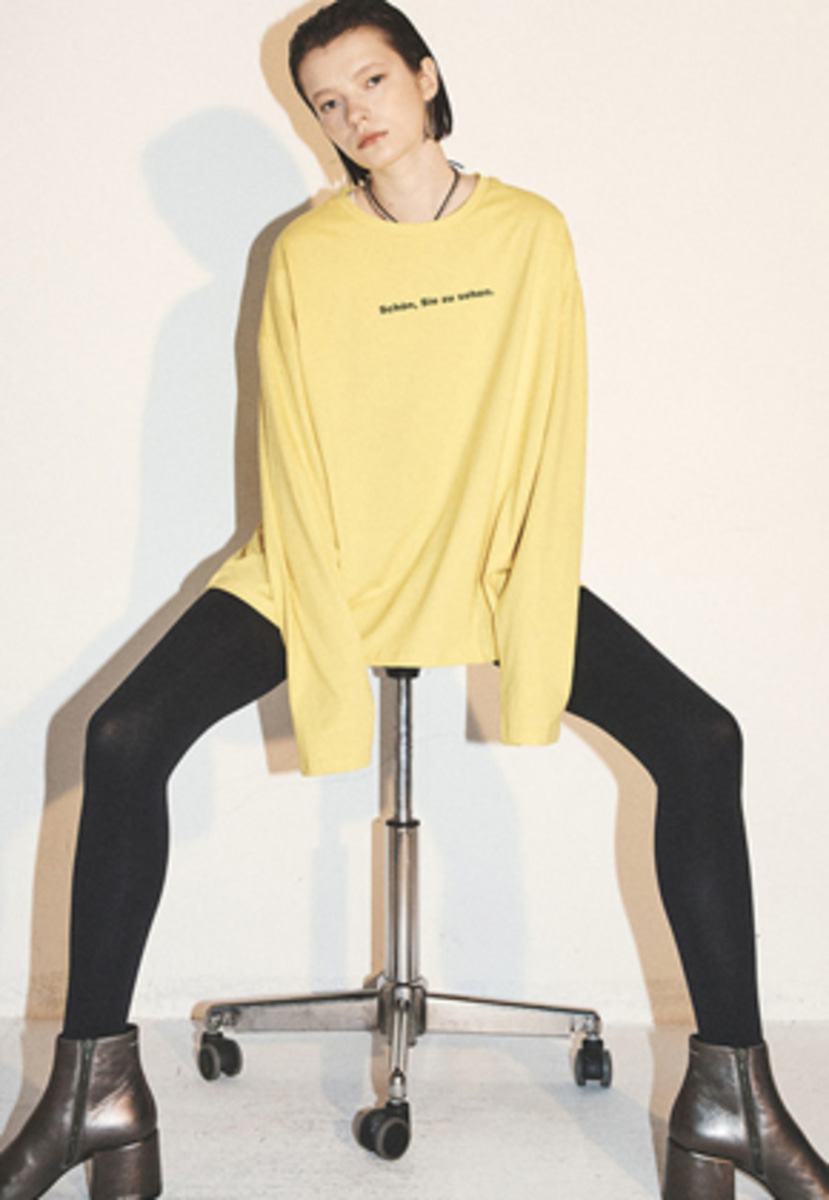 Haleine알렌느 YELLOW slogun longsleeve(FT007)
