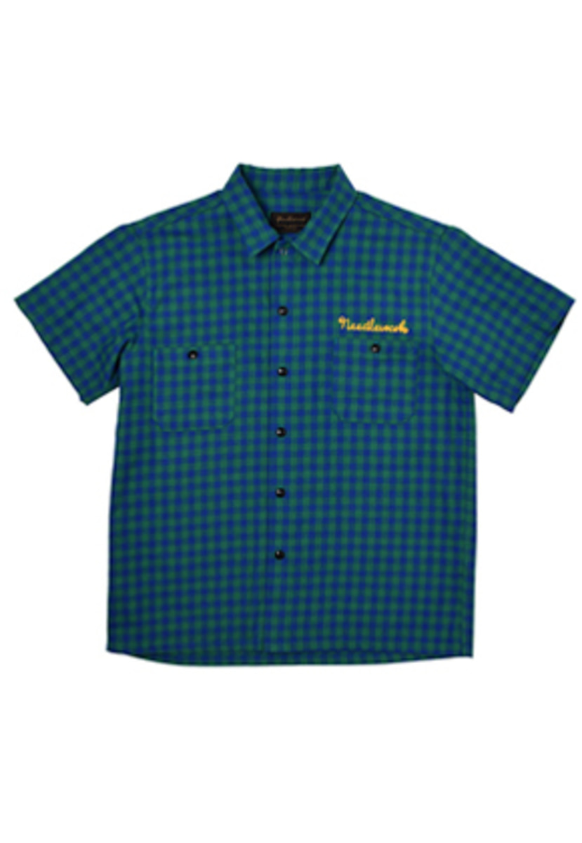 Needlework니들워크 VINTAGE WORK SHIRTS(GREEN+BLUE)