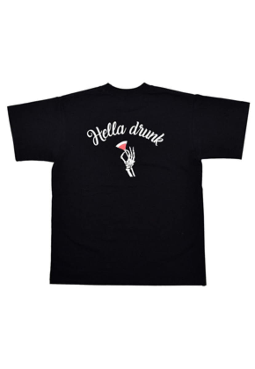 Needlework니들워크 HELLA DRUNK T SHIRTS(BLACK)