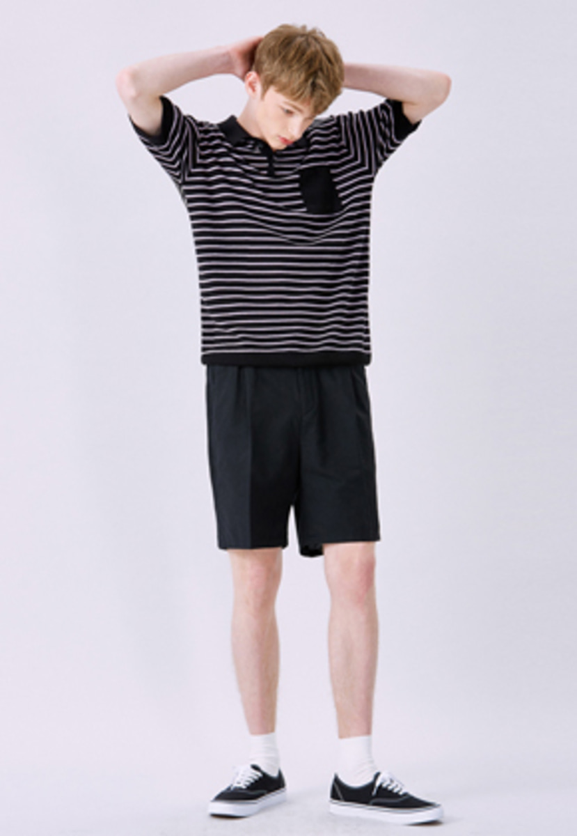 Voiebit브아빗 V235 LINEN BANDDING SHORT PANTS  BLACK