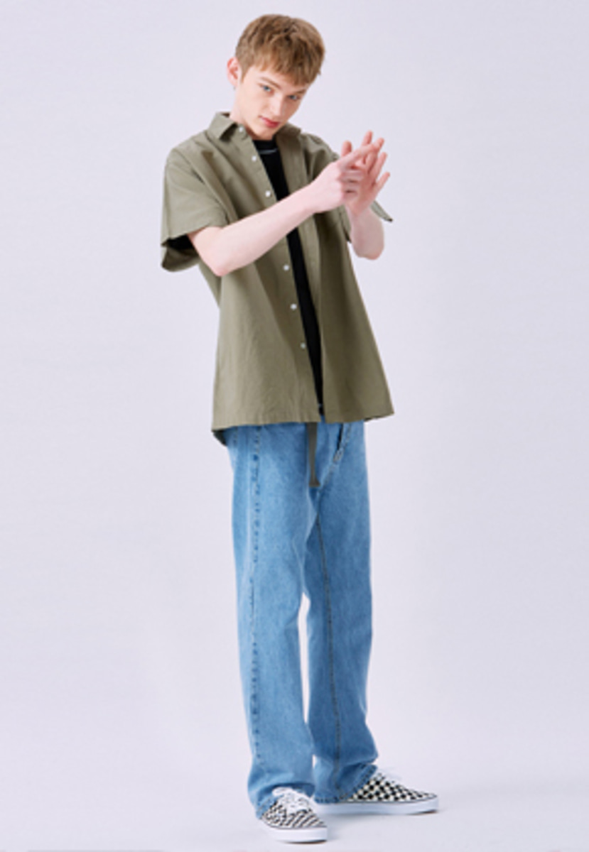 Voiebit브아빗 V232 LIGHT NONE SPAN WIDE DENIM PANTS  LIGHT BLUE
