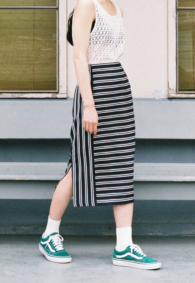 Ampersand앰퍼샌드 PENCIL SKIRT - STRIPE