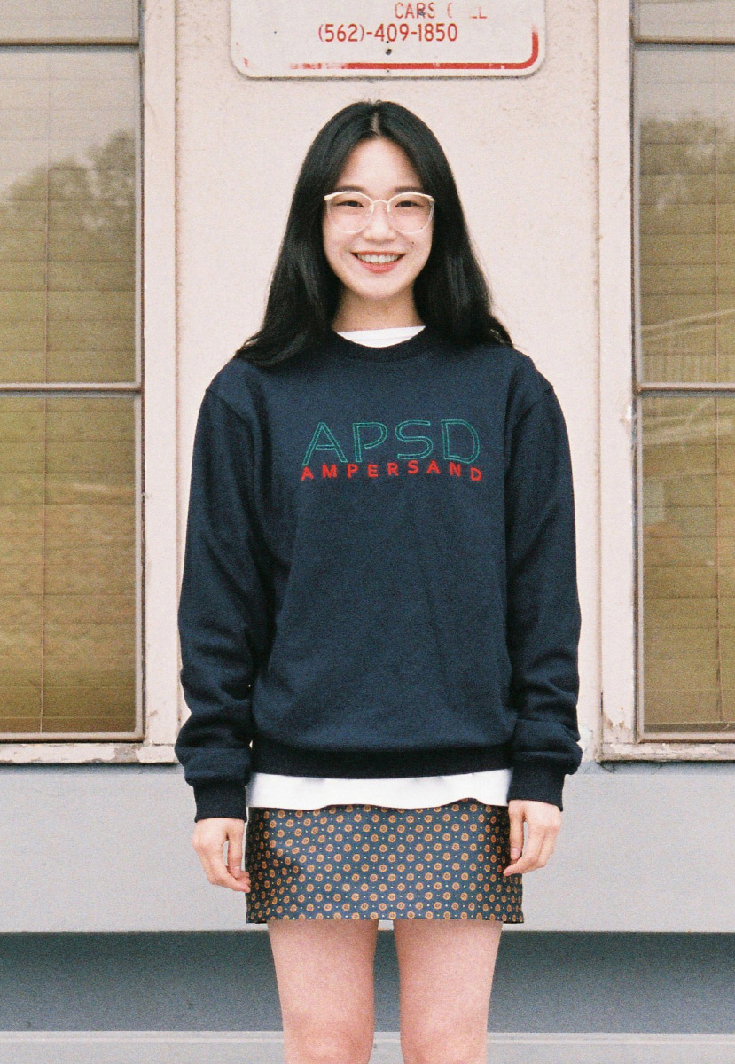 Ampersand앰퍼샌드 APSD SWEAT SHIRT - NAVY