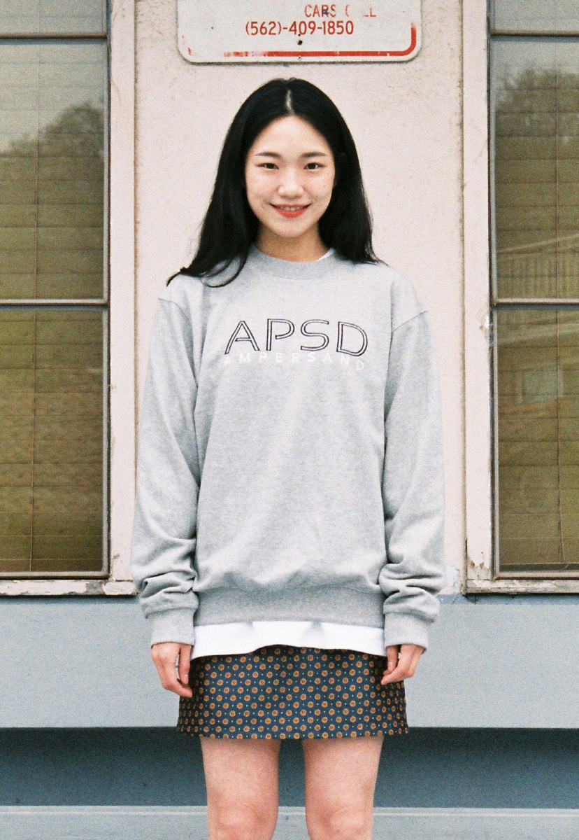 Ampersand앰퍼샌드 APSD SWEAT SHIRT - GREY
