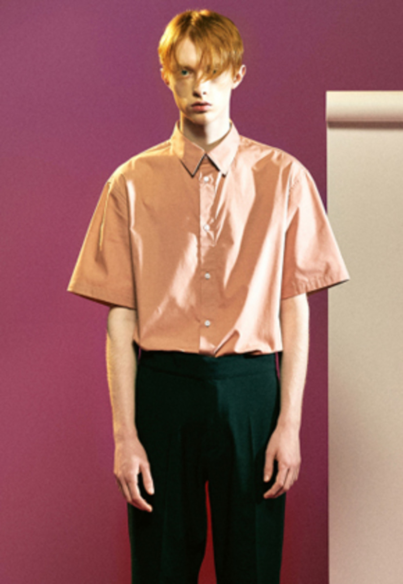 MMGL미니멀가먼츠랩 Cotton half sleeves shirts (Pink)