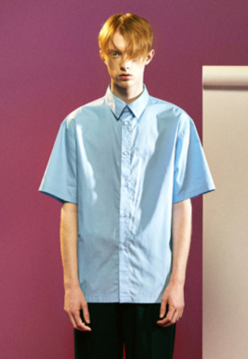 MMGL미니멀가먼츠랩 Cotton half sleeves shirts (Blue)